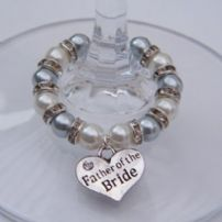 Father Of The Bride Wine Glass Charms